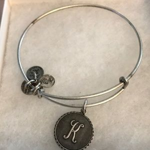Alex and Ani Silver K Bracelet
